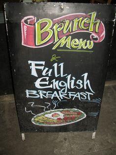 Zielsveel Design ~ London Type ~ Collection // Pub Signage, Brunch Menu, Full English Breakfast