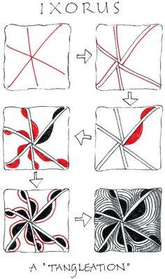 Ixorus - Zentangle Pattern Gallery | Zentangle Pattern | We Heart It