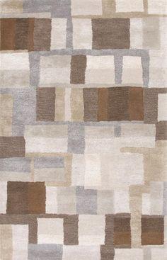 Jaipur Hand-Tufted Durable Wool/ Art Silk Gray/Brown Area Rug ( ) - All Rugs - Rugs Brown Rug, Brown And Grey, Gray, Beige, Contemporary Rugs, Modern Rugs, Jaipur Rugs, Clearance Rugs, Indian Rugs