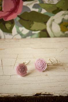 Items similar to Elegant Soft Purple Resin Rose Earrings, Silver Leverback Earrings, Soft Purple Earrings, Romantic Rose Earrings on Etsy Rose Earrings, Stud Earrings, Handmade Jewelry, Unique Jewelry, Handmade Gifts, Soft Purple, Bracelet Making, Resin, Pendants