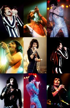 In addition to his talents as a singer and songwriter, Mercury was also a skilled showman. He knew how to entertain audiences and how to connect with them. He liked to wear costumes—often featuring skintight spandex—and strutted around the stage, encouraging fans to join in the fun. Artistic in nature, Mercury was also actively involved in designing the art for many of the group's albums.