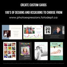Create your own custom greeting card. Pick your style, add your photo and text - that's it! Custom Cards, Custom Greeting Cards, Photo Greeting Cards, Photography Services, Creative Photos, Custom Photo, Your Photos, Your Design, Create Your Own