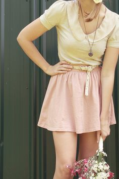 Love the colors and the top but the skirt needs to have a bit more length