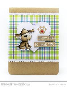 Stamps: Furever Friends, Canine Companions  Die-namics: Fuever Friends, Paw Prints, Flop Card  - Heart, Blueprints 27, Tag Builder Blueprints 6    Francine Vuillème      #mftstamps