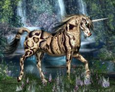 Clouded Unicorn by Daio.deviantart.com on @DeviantArt