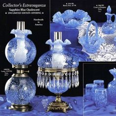 Fenton Lamps, Fenton Glassware, Milk Glass Lamp, Light Amethyst, Carnival Glass, Oil Lamps, Antique Glass, Glass Ornaments, Perfume Bottles