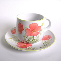 Noritake Cup and Saucer Bright Side by AtticDustAntiques on Etsy,