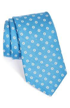 Men's Nordstrom 'Wild Neat' Flower Embroidered Silk Blend Tie
