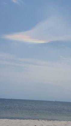 West Dennis beach Rainbow cloud, Cape Cod Ma