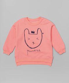 Leighton Alexander Pink Princess Cat Sweatshirt - Toddler & Girls | zulily