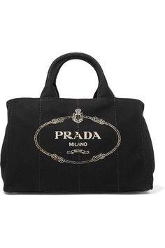 Prada - Giardiniera Large Printed Canvas Tote - Black - one size