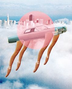 South-Korean artist Jake Lee puts the world in perspective in fascinating and intricate collages. From retro pictures and vibrant colours, the creator shows u Collages, Surreal Collage, Mixed Media Collage, Wall Collage, Retro Pictures, Cloud City, Collage Techniques, Collage Making, Photocollage