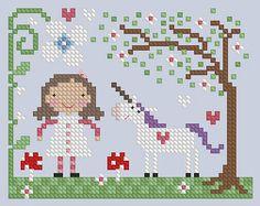 The Floss Box | Spring Unicorn Cross Stitch