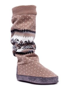 On ideel: MUK LUKS Angie Cuff Tall Slipper Boot. These are adorable and marked down from $59 to $27