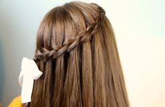 Find inspiration for your own Waterfall French Braid Hairstyles. Back To School Hairstyles, Cute Girls Hairstyles, Different Hairstyles, Trendy Hairstyles, Girl Haircuts, Girls Hairdos, 5 Minute Hairstyles, Winter Hairstyles, Curly Hair Braids