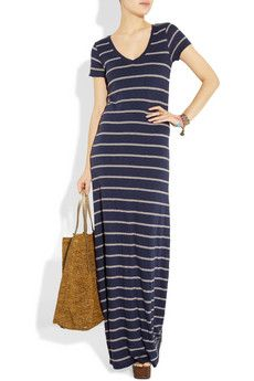 Striped jersey maxi. Just the way I like it.