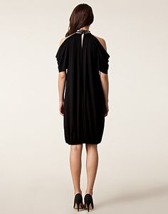 DRESSES - SÄBY / SILVER JERSEY DRESS - NELLY.COM