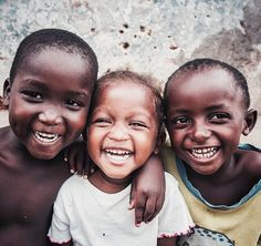 happy children in africa. photograph by sunshine cafe.