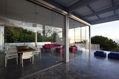 eco friendly bed and breakfast   The house uses a glass wall which makes the interior seen from the ...