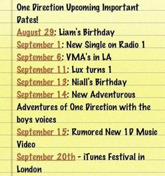 Oh my, yes. Thank you to whoever made this. I knew...sadly...probably 3 of these events. (Including Liam and Niall's birthdays, of course.)