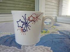 Fiesta® FOURTH OF JULY Mug made by Homer Laughlin China | WorthPoint