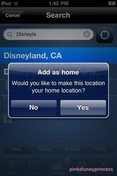 Yes, I would like to make this my home location!