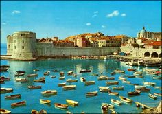 3093 R Dubrovnik ~ 1975 Blue Is The Warmest Colour, Warm Colors, Beautiful World, Castle, Earth, River, Country, Outdoor, Goals