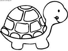 coloriage enfant tortues, dessin enfant tortues, tortues Coloriage