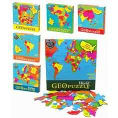 From Germany and Italy to Spain and Zimbabwe, GeoPuzzles make learning geography fun! Every GeoPuzzle helps to build fine motor, cognitive, language, and problem-solving skills. The pieces of a GeoPuzzle are shaped like individual countries, so children learn as they put the puzzle together. This puzzle is perfect for children 4 years and older.