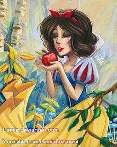 Prismacolor Snow White and the Seven Dwarfs by LemiaCrescent