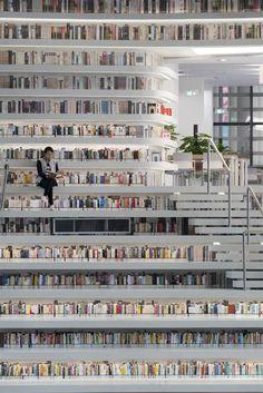 En fotos: la nueva biblioteca de Tianjin, en China, con espacio para 1.2 millones de libros  La biblioteca de Tianjin, en China. Foto: Ossip van Duivenbode