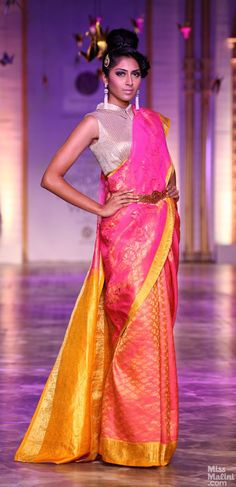 Belted sarees by Neeta Lulla