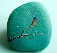 Beauty and cute rock painting ideas (47)