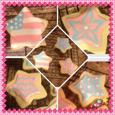 First time decorating cookies, not bad considering I had no tips or couplers!