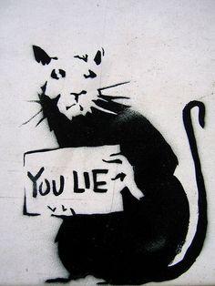 Banksy pochoir