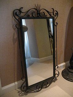 Wrought iron mirror – metal of life Wrought Iron Decor, Metal Bending, Dressing Mirror, Iron Furniture, Iron Art, Gothic Home Decor, Iron Doors, Decoration, Console
