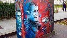 #C215 a réalisé une fresque en hommage à Ahmed Merabet, policier tué par les Kouachi  http://www.francetvinfo.fr/economie/medias/charlie-hebdo/un-artiste-rend-hommage-au-policier-tue-par-les-kouachi-ahmed-est-un-symbole-fort_1253347.html #Ahmed #streetart