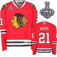 Stan Mikita Jersey - Buy 100% official Reebok Stan Mikita Men s Authentic  Stanley Cup Finals Red Jersey NHL Chicago Blackhawks  21 Home Free Shipping. ad316be5d