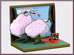 HANAMI - Free cherry Blossom Pop Up Card by Yahama
