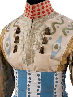 Detail of a costume for a Knight in The Firebird, designed by Alexandre Golovine, 1910. Museum no. S.5321:1,2-2009