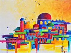 Painting - Jerusalem by Dawnstarstudios
