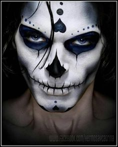Scary face paint!