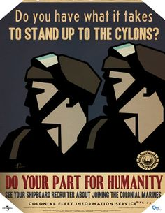 """Do Your Part For Humanity"" - part of the BSG Propaganda Poster Set (3 of 5)"
