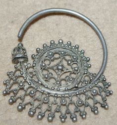 Uzbekistan | Pair of high quality silver earrings | 19th century | Price on request