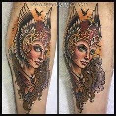 Today's Valkyrie @taikogallery I love tattooing fierce ladies on people! #magicmoontattooneedles #magicmoonneedles #germantattooers #tattoos #tattoo