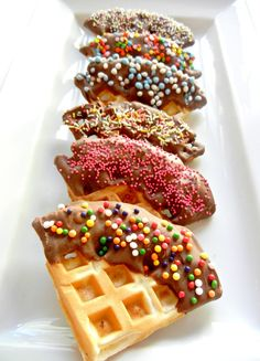 Chocolate + sprinkles + waffles. Yup.