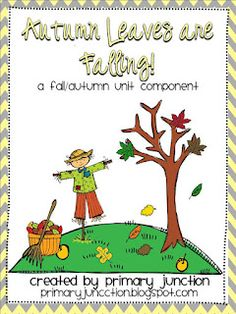 Autumn Leaves Are Falling! - Free packet contains fluency sheet, bubble maps, book and writing activity, craft, ABC Order sheet, Fill-in-the-Blank sheet, Math Challenge and more!