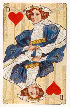 #PlayingCardsTop1000 - Gewaendern - Queen of hearts