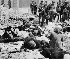 Shoah - The Holocaust - Jews pulled from hidden bunkers which were either found or betrayed