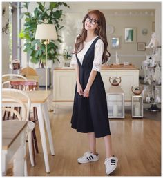 Dowisi - Set : Elbow-Sleeve Lace Top + Sleeveless Dress